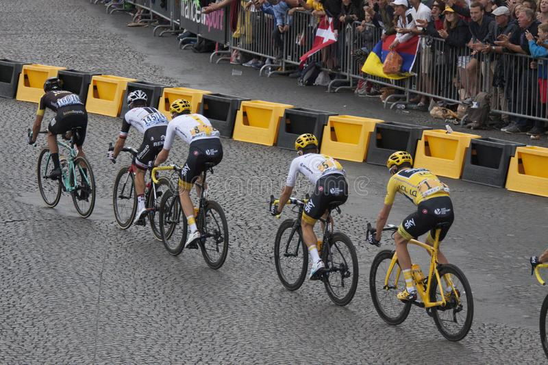 Winner of the tour de france 2017 royalty free stock image