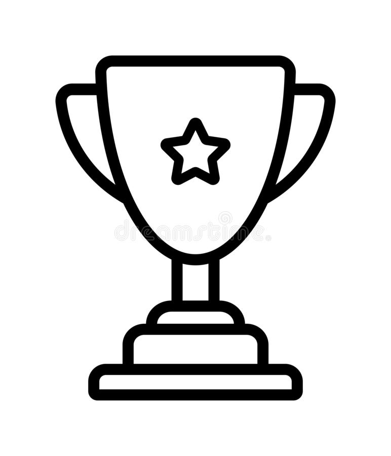 Winner trophy cup icon stock illustration