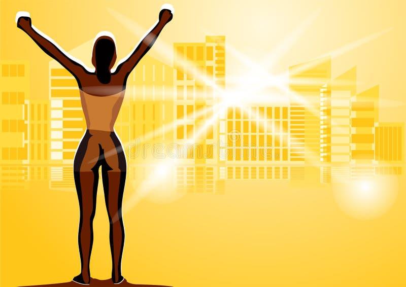 Winner woman stock illustration