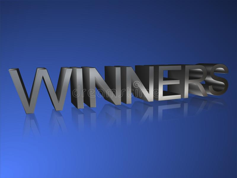 Winners banner vector illustration