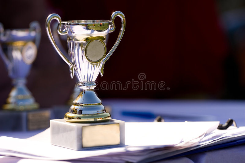 Winners cup royalty free stock photography