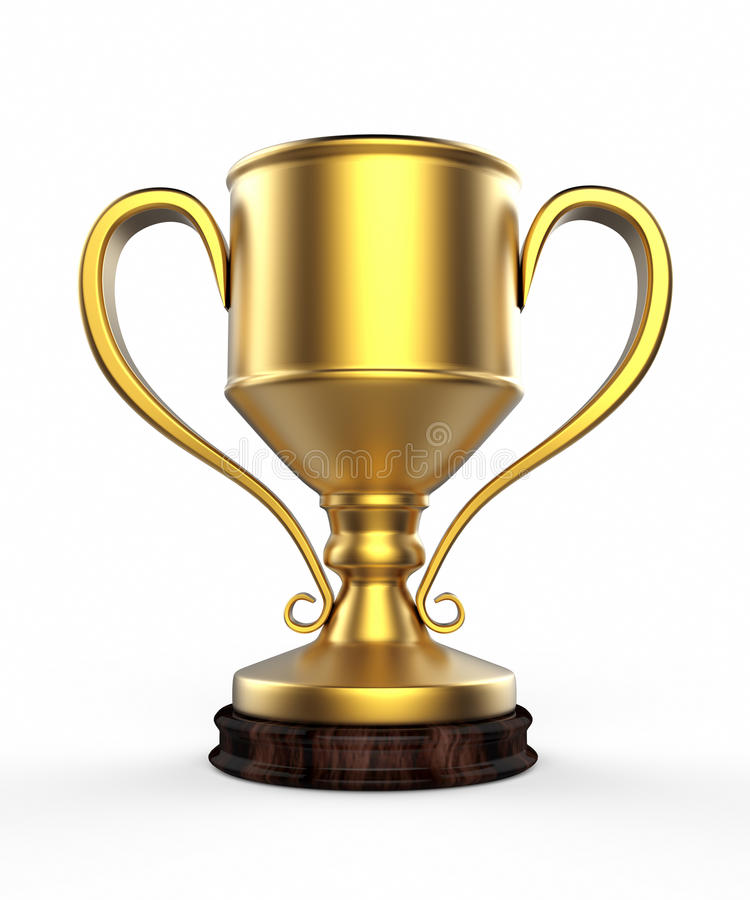 Winners cup 3d stock illustration
