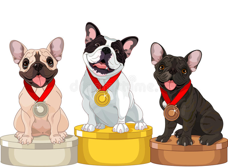 Download Winners of Dog competition stock vector. Image of bronze - 27595516