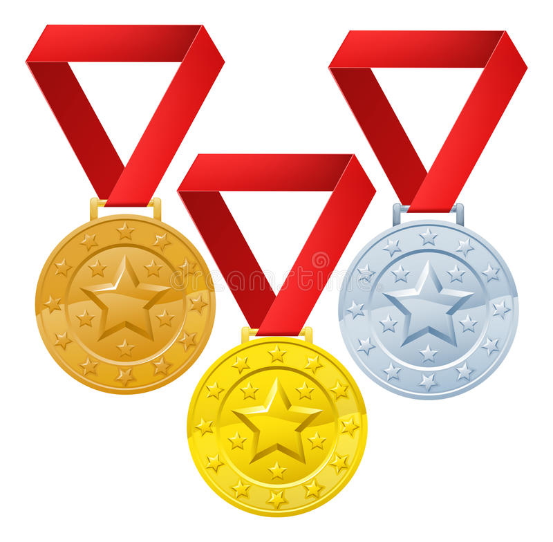 Winners medals stock illustration