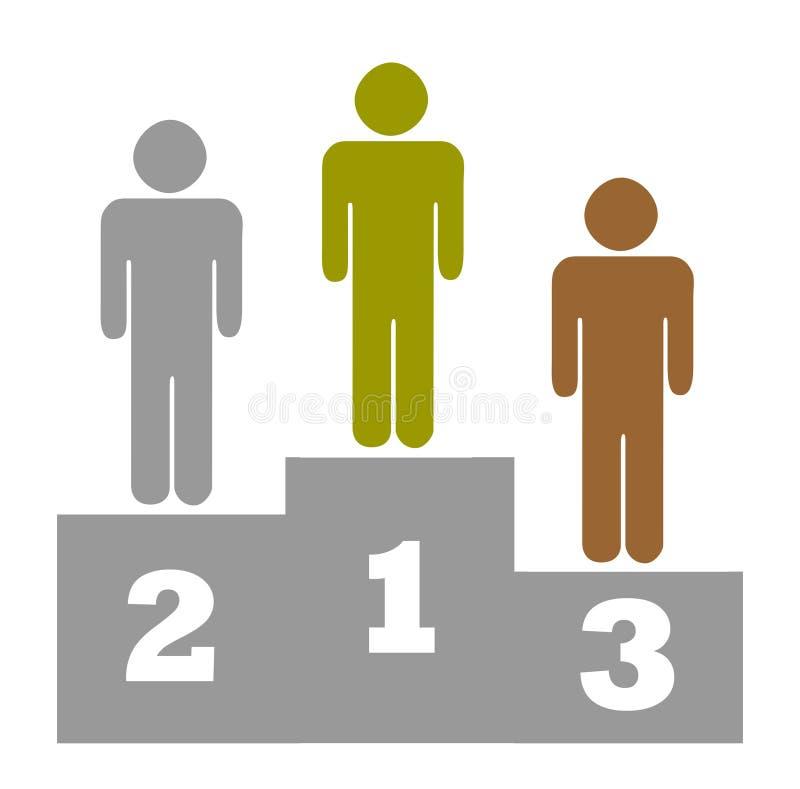 Download Winners podium stock illustration. Illustration of athletics - 12207622