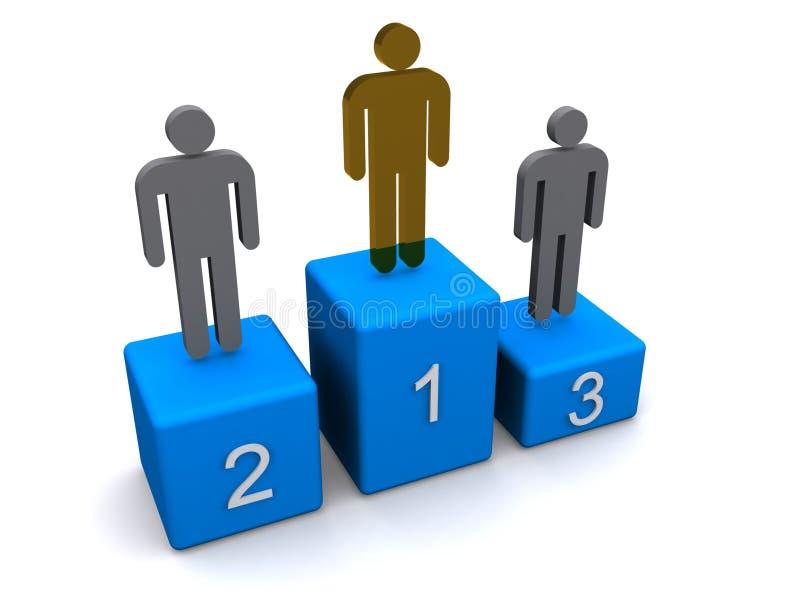 Download Winners podium stock illustration. Illustration of winner - 17174297