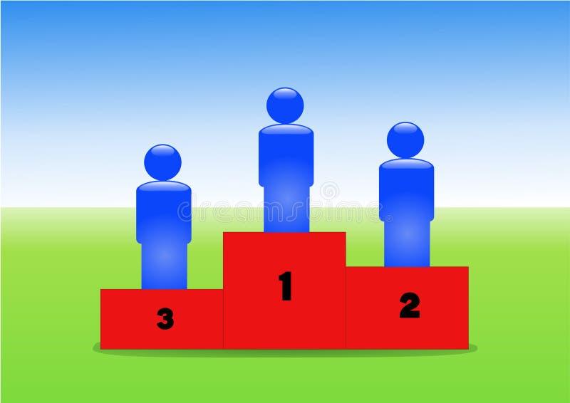 Download Winners sports podium stock illustration. Illustration of reward - 25053332