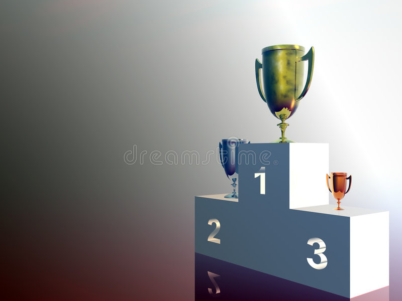 Download The winners, stand stock illustration. Illustration of bronze - 1286932