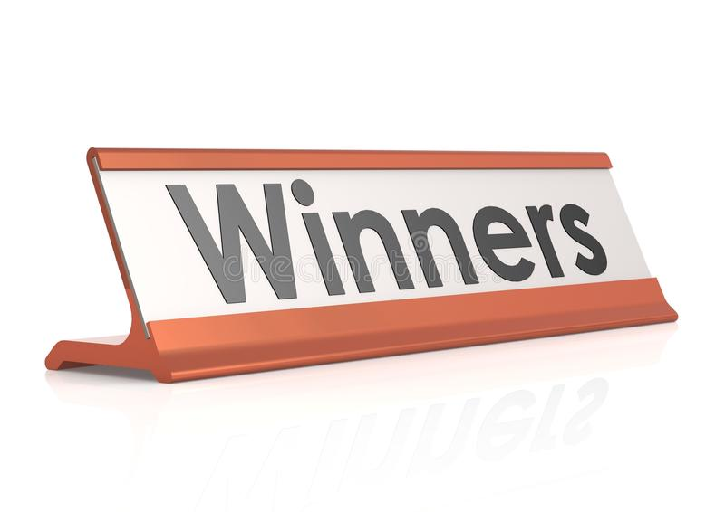 Winners table tag. Hi-res original 3d-rendered computer generated artwork vector illustration
