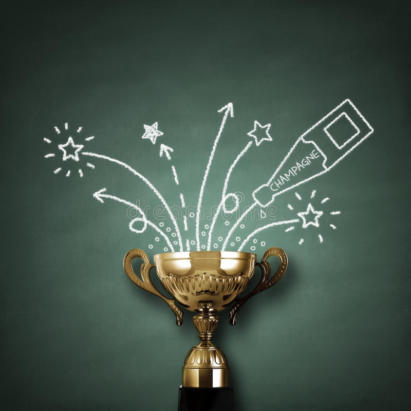 Download Winners trophy stock image. Image of achievement, bottle - 38696455