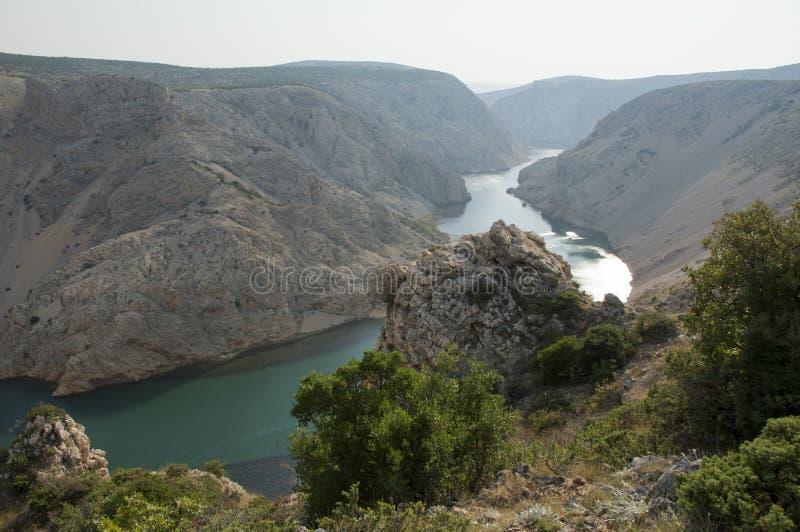 winnetou电影的克罗地亚Zrmanja河 库存图片