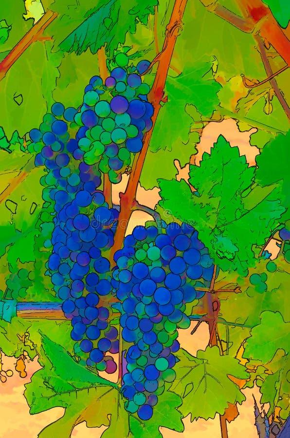 Winniców winogrona Abstrakcjonistyczni ilustracji