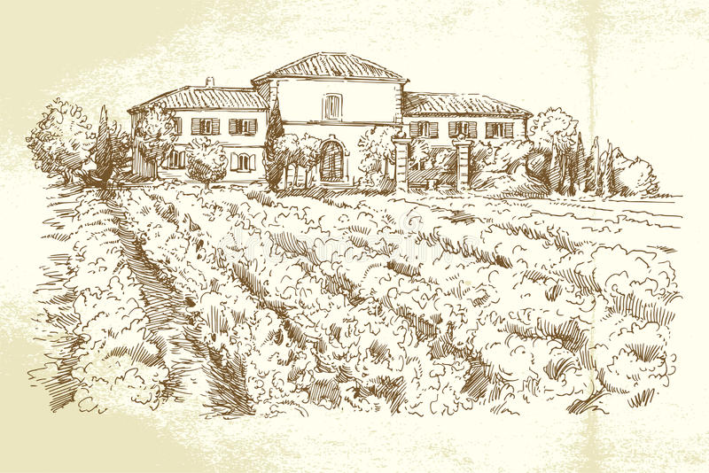 Winnica Francja ilustracja wektor