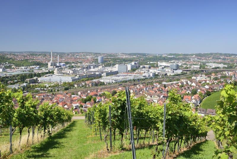 Winnicy i przemysłowe ugody, Stuttgart zdjęcie stock