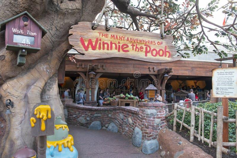 Winnie το Pooh, κόσμος της Disney, ταξίδι, μαγικό βασίλειο στοκ εικόνα με δικαίωμα ελεύθερης χρήσης