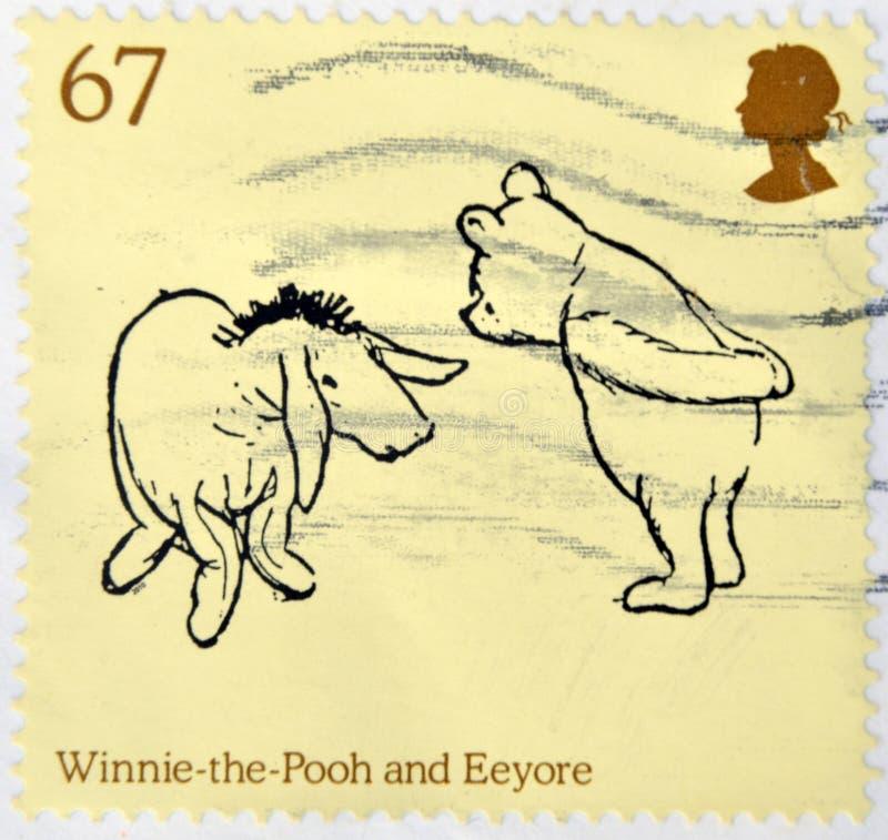 Winnie οι χαρακτήρες Pooh και Eeyore στοκ εικόνες