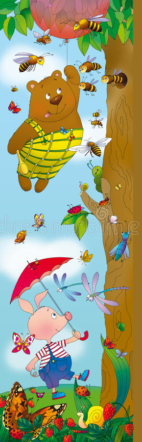 Free Winnie The Pooh And Piglet Stock Photography - 18303982
