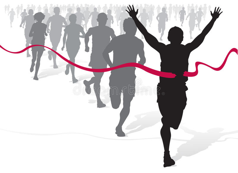 Winning Athlete vector illustration
