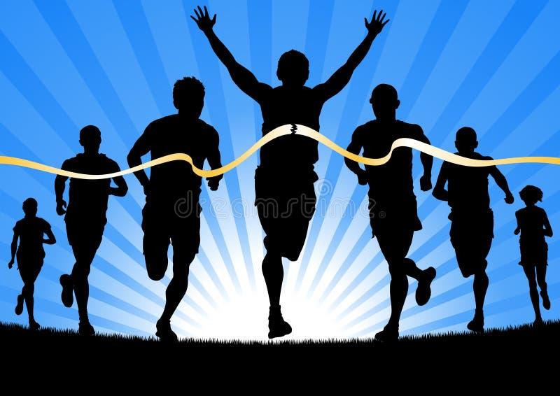 Winning Athlete stock illustration