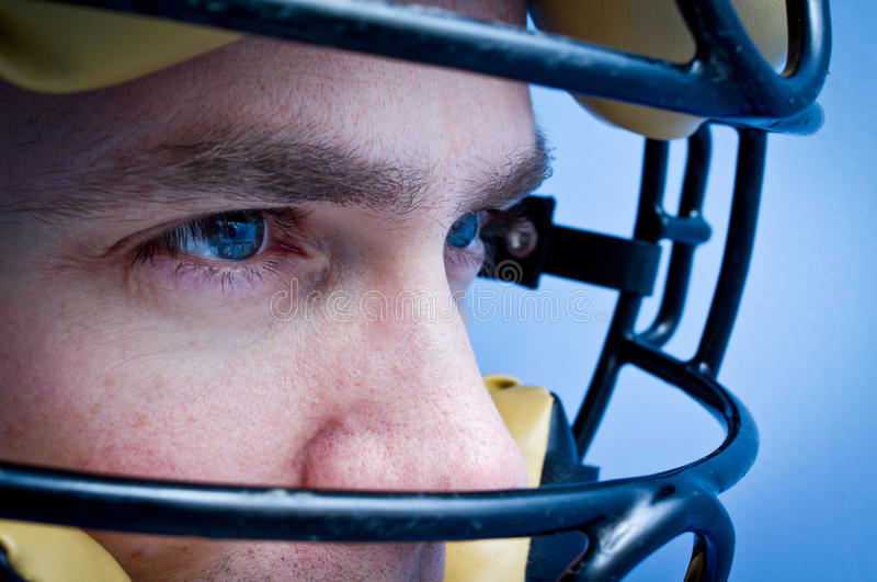 Winning attitude. Athlete stare of concentration or winning attitude royalty free stock photos