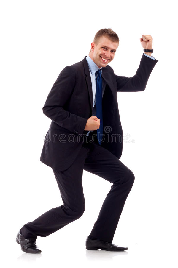 Winning business man stock photography