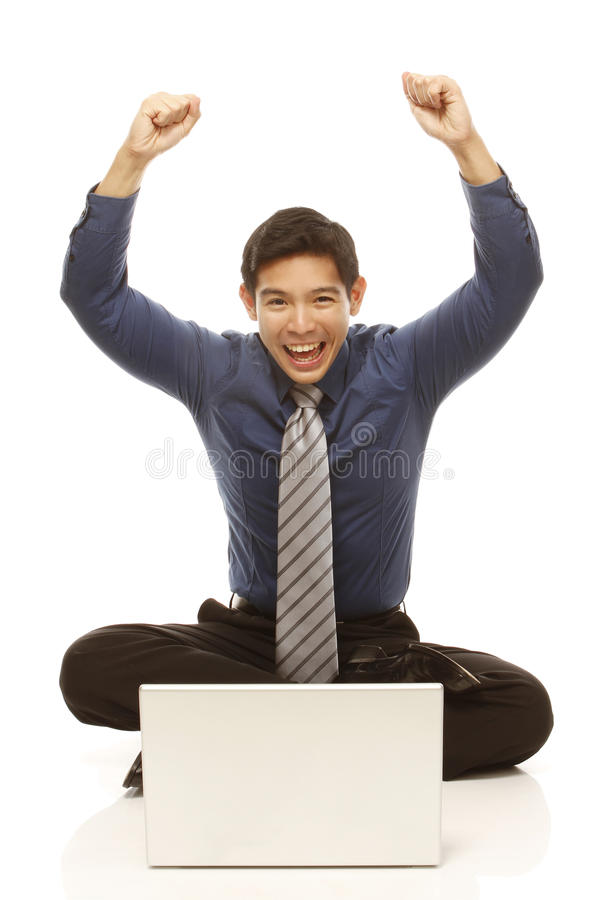 Winning Businessman Stock Image