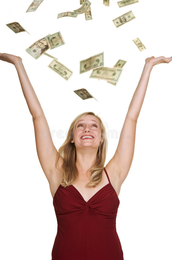 Winning The Cash Pile Royalty Free Stock Photography