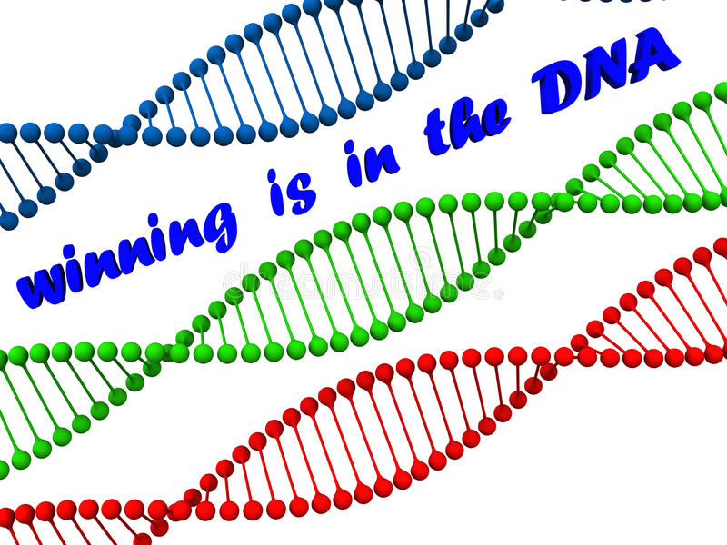 Winning dna royalty free illustration