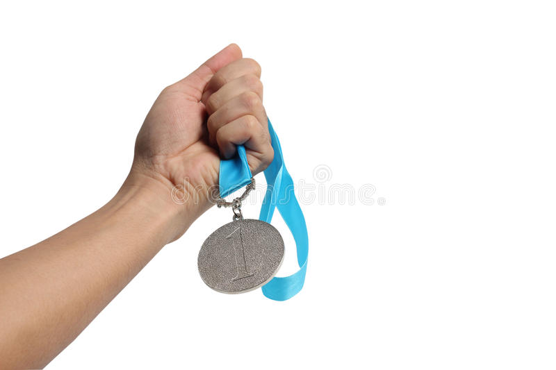 Winning at the games stock photography