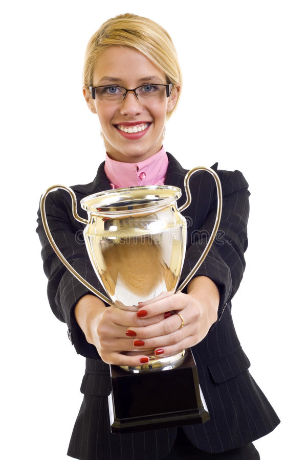 Download Winning a gold cup stock image. Image of chinese, businesswoman - 13495339