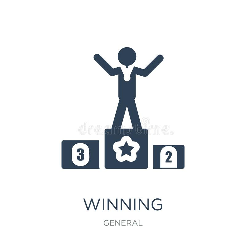 Winning icon in trendy design style. winning icon isolated on white background. winning vector icon simple and modern flat symbol. For web site, mobile, logo royalty free illustration