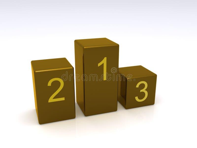 Download Winning podiums stock illustration. Image of background - 11954460