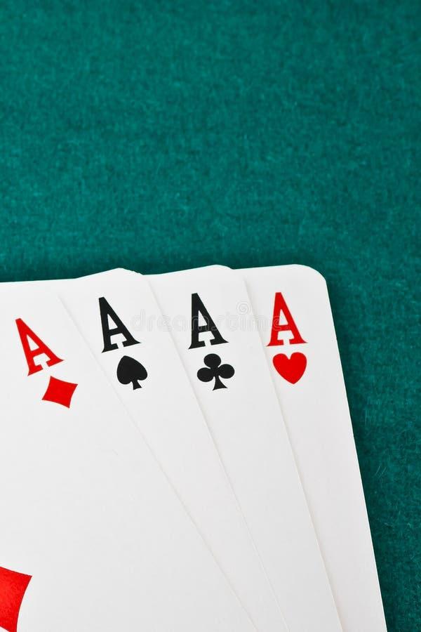 Winning poker hand royalty free stock photos