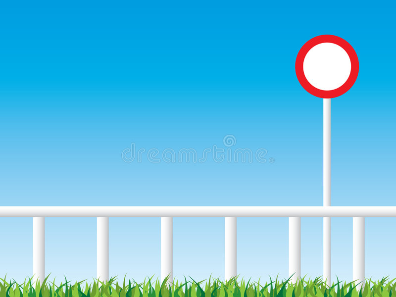 Winning post. Horse racing winning post with copy space vector illustration