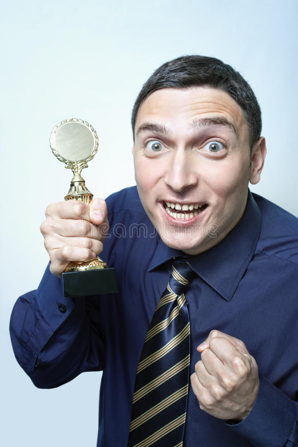 Winning a prize royalty free stock photography