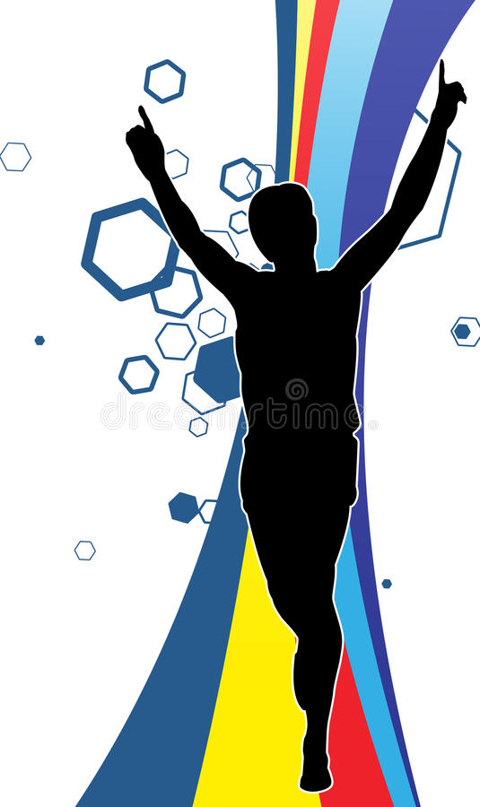 Winning the race royalty free illustration