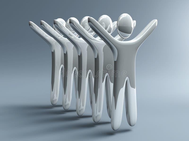Download Winning Team stock illustration. Illustration of anonymous - 4854574