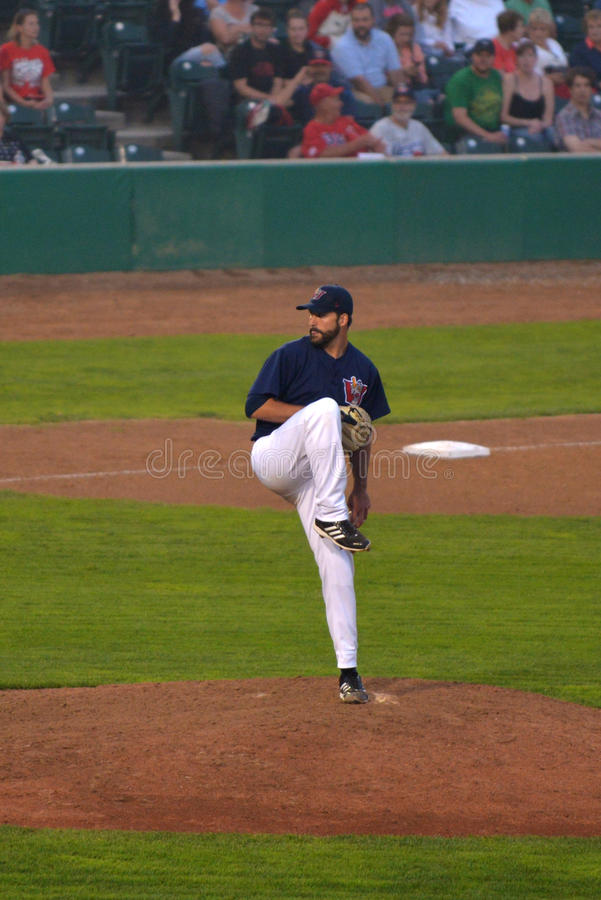 Winnipeg Goldeyes versus Sioux City Explorers stock foto's