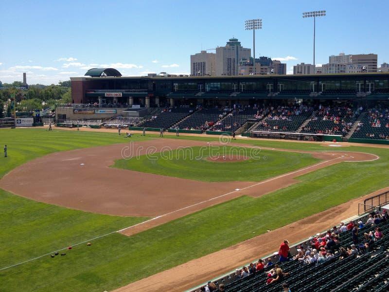 Winnipeg Goldeyes vs Kansas City kości zdjęcie stock