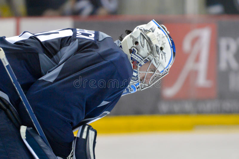 Winnipeg Jets. The Winnipeg Jets (NHL hockey team) players during Training Camp prior to the 2015-16 NHL season. September 2015. Iceplex sport complex, Winnipeg royalty free stock photography