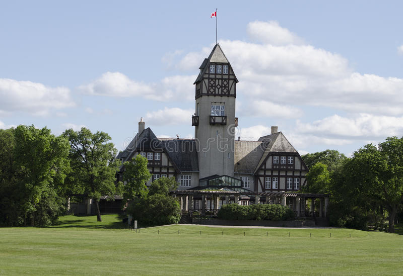 Winnipeg, Manitoba, Canada - Juni 27, 2015: Het Paviljoen van het Assiniboinepark stock foto's