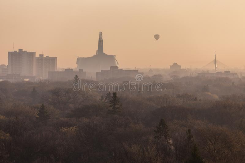Winnipeg panorama przy wschodem słońca obraz royalty free