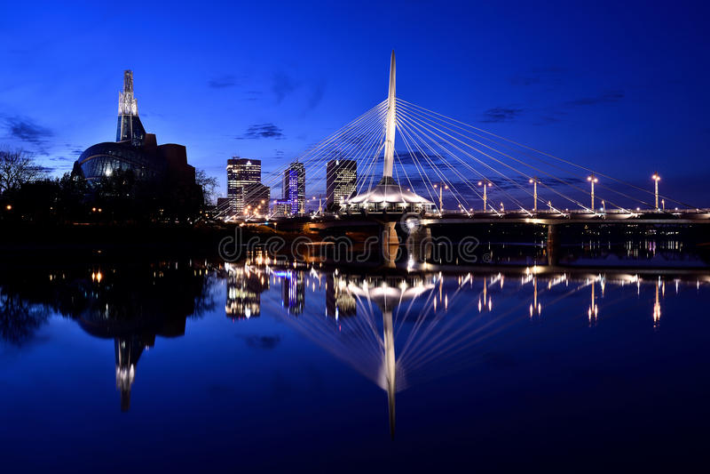 Winnipeg Skyline stock photography