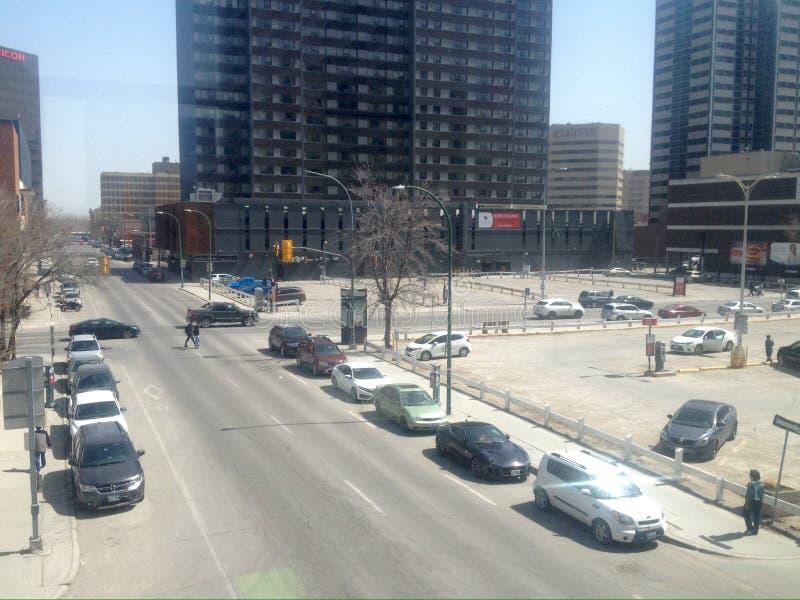 Winnipeg van de binnenstad stock afbeeldingen