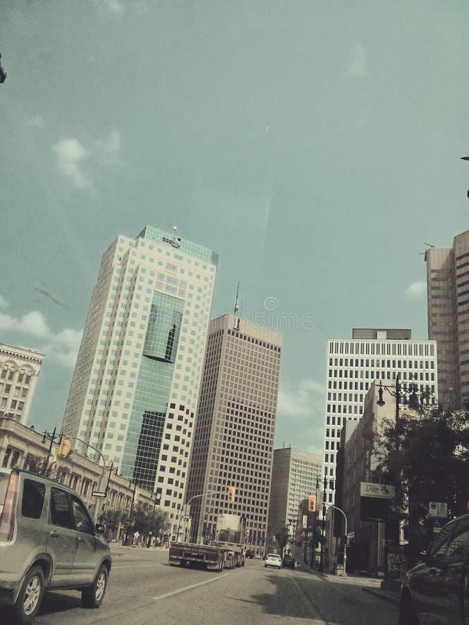 Winnipeg van de binnenstad royalty-vrije stock afbeeldingen