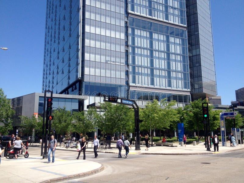 Winnipeg van de binnenstad in een zondag royalty-vrije stock fotografie