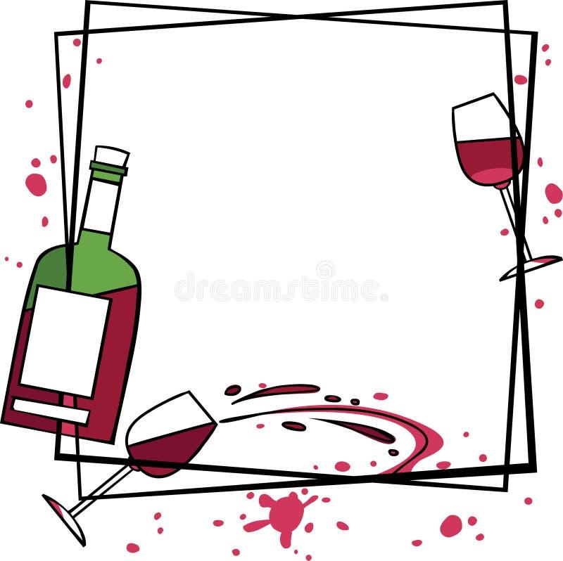 Download Wino ilustracja wektor. Obraz złożonej z butelka, tło - 14036535