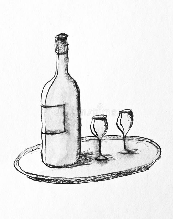 wino ilustracji