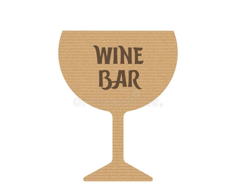 Wino bar ilustracja wektor