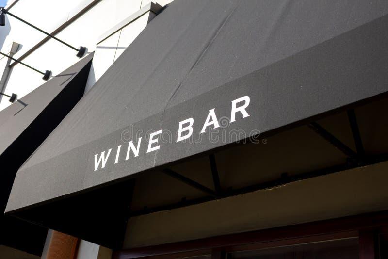 Wino baru znak zdjęcie stock